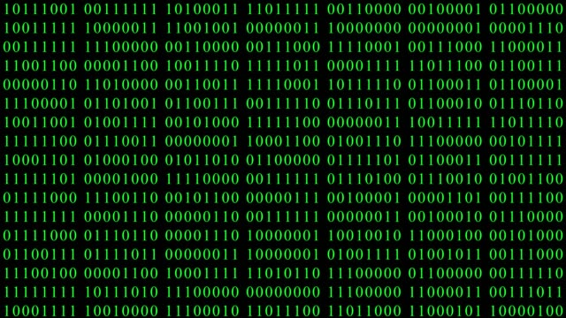 Código-digital-binario-verde-con-cambio-al-azar-de-ceros-y-unos-