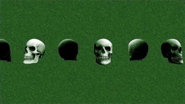 Abstracta-fondo-Halloween-rotación-cráneo-miedo-líneas-14