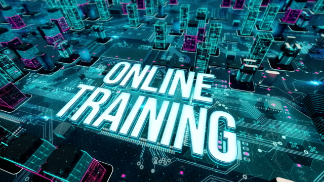 Online-Training-with-digital-technology-concept
