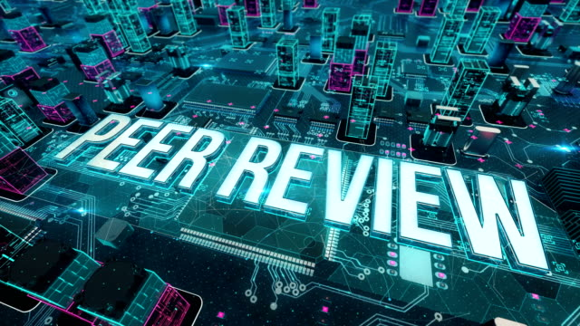 Peer-Review-with-digital-technology-concept
