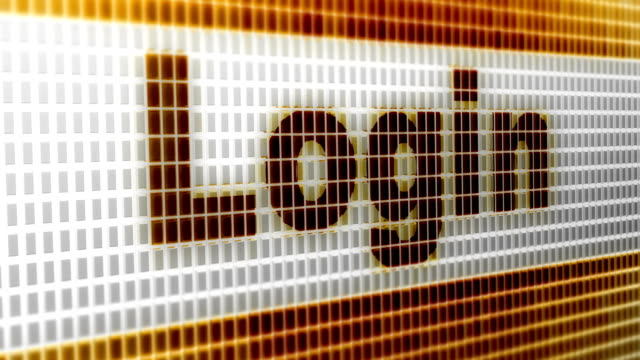 """Login""-on-the-Screen-4K-Resolution-Looping-"
