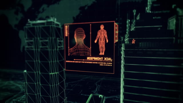 Digital-Cybernetic-City-Security-Breach-PART-2---Stock-video