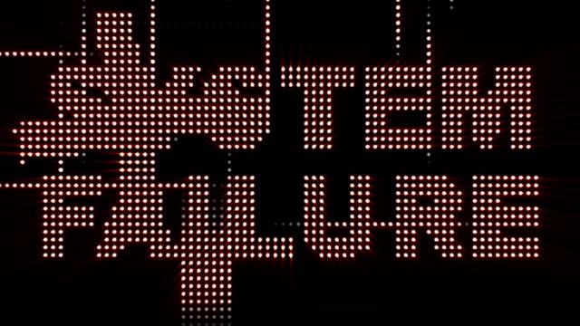 SISTEMA-falta-texto-y-Resumen-loco-luces-bombilla-animación-CGI-Rendering-Fondo-de-bucle