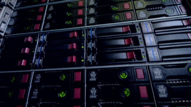 Several-levels-of-a-fully-packed-data-cabinet-