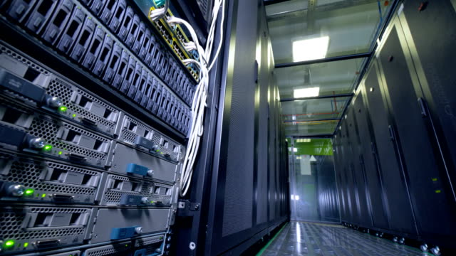 Data-storage-corridor-with-one-cabinet-open-