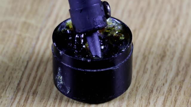 soldering-iron-in-rosin-close-up