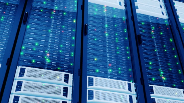 Working-Servers-in-Modern-Data-Center-Complex-Calculations-Cloud-Computing-Data-Storage-Looped-3d-animation-