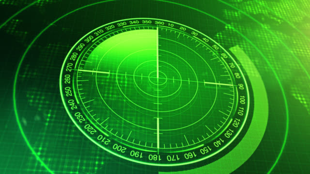 Sonar-Screen-For-Submarines-And-Ships-Radar-Sonar-With-Object-On-Map-Futuristic-HUD-Navigation-monitor