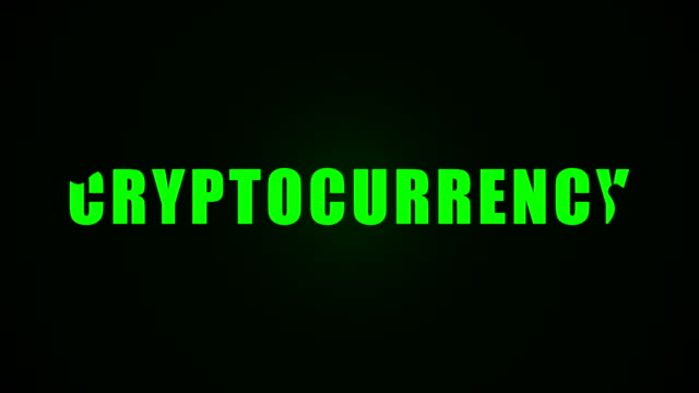 Cryptocurrency-text-Liquid-animation-background