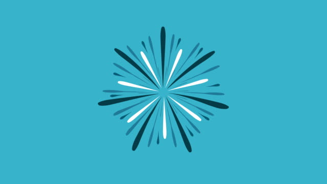 Fireworks-display-celebration-flat-design-animation-icon