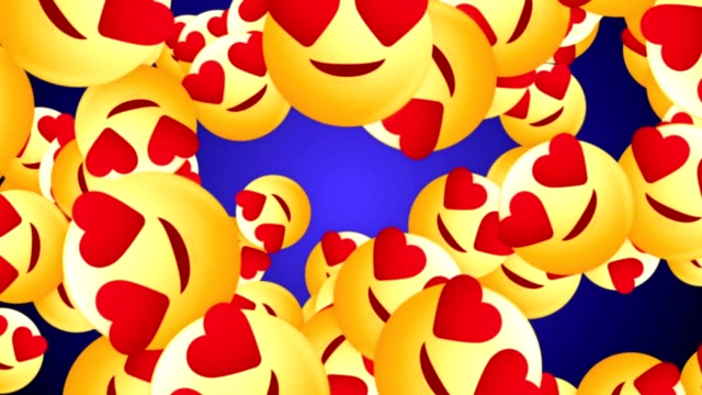 Falling-Hearts-Eye-Emoji-Signs-Animation-Rendering-Background-with-Alpha-Channel-Loop