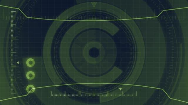 Futuristische-digital-HUD-Technologie-Benutzeroberfläche-Radarschirm-mit-verschiedenen-Technologie-Elemente-Business-Kommunikations-Konzept