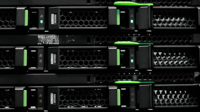 Server-rack-cluster-in-a-data-center-Supercomputer-Network-servers-in-a-data-center