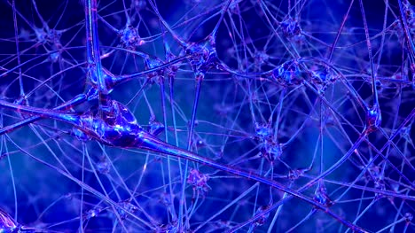 Artificial-reason-Journey-through-a-network-of-artificial-neural-cells-and-synapses-in-the-brain-of-a-robot-through-which-electrical-impulses-and-discharges-pass