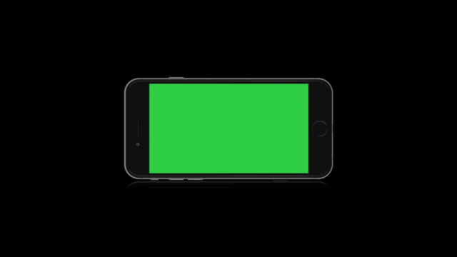 Smartphone-Horizontal-Screen-Black-Background-Isolated