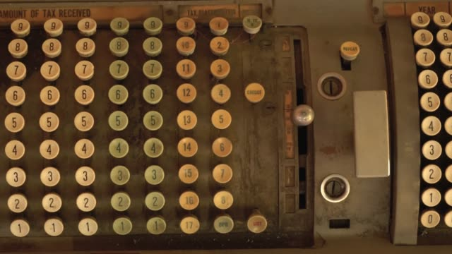 Old-vintage-tax-calculator-machine-using-to-calculate-tax-and-popular-in-the-past-