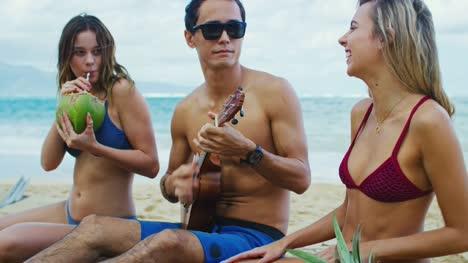 Friends-Enjoying-Beach-Day