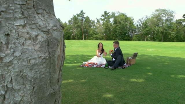 Newlyweds-on-picnic-