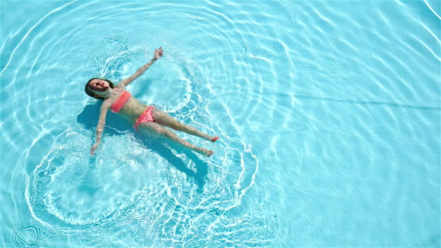 Adorable-happy-little-girl-enjoy-swimming-in-the-pool-Family-summer-vacation-kid-relax-at-pool-