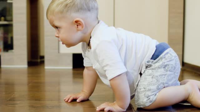Pretty-boy-crawls-over-the-parquet