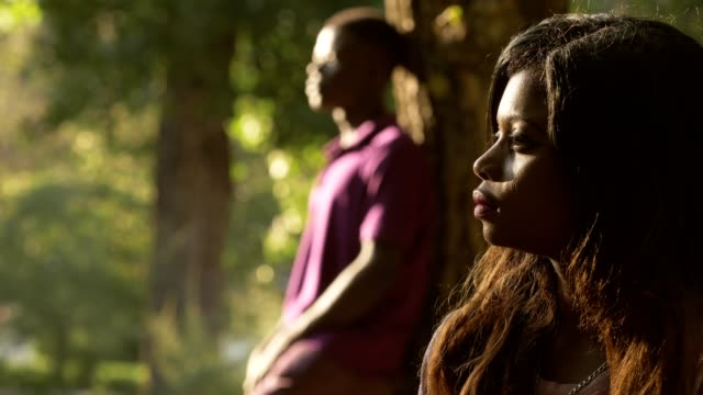 black-couple-angry-couple-at-the-park-incommunicability-anger-silences
