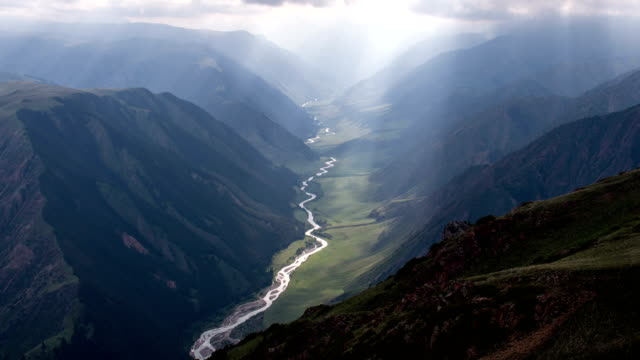 The-Suns-Rays-in-a-Deep-Gorge