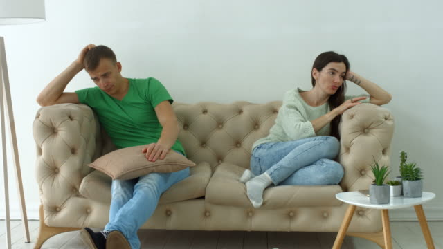 Couple-not-talking-after-a-dispute-on-the-sofa