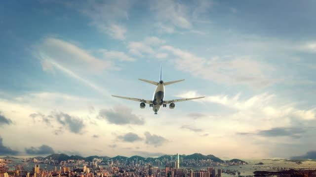 Airplane-Landing-Hong-Kong-China