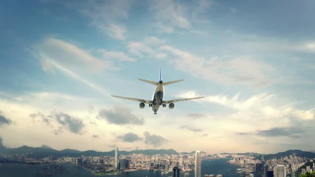 Airplane-Landing-Hong-Kong-China-second-version