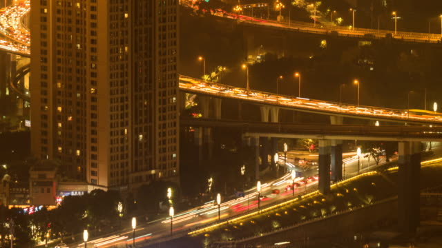 Chongqing-night-traffic