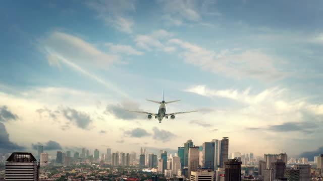 Airplane-Landing-Jakarta-Indonesia