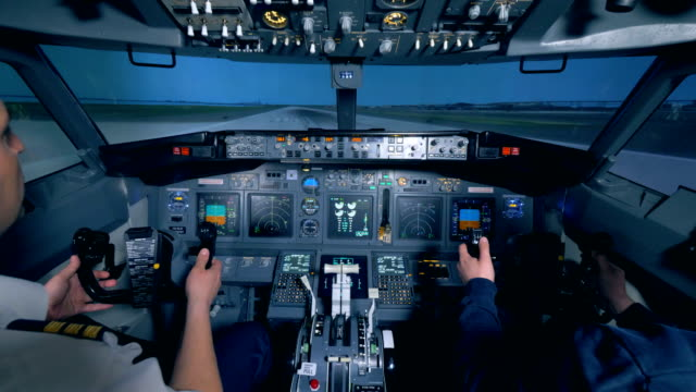 The-plane-takes-off-pilots-are-in-the-cockpit-