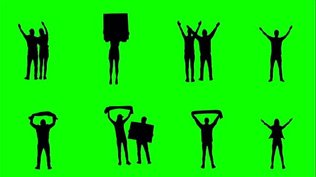 Football-fans-on-green-screen-