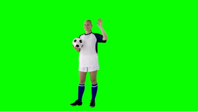 Sportswoman-playing-football