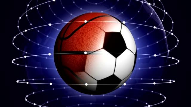 SPORTS-BALLS-Rendering-Animation-Background-Loop