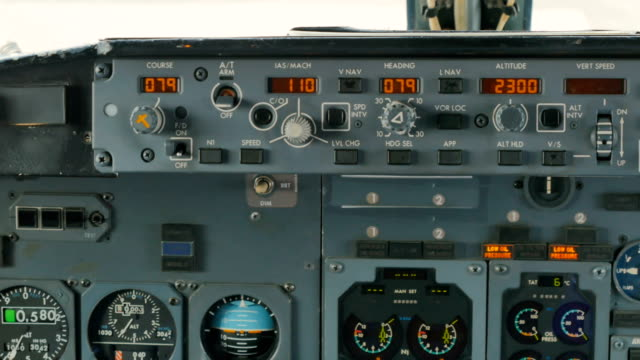Control-panel-of-airplane