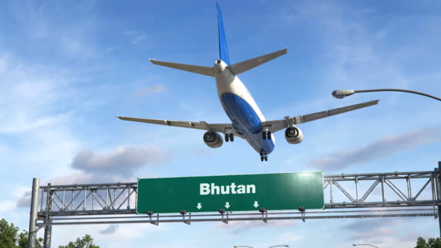Airplane-Landing-Bhutan