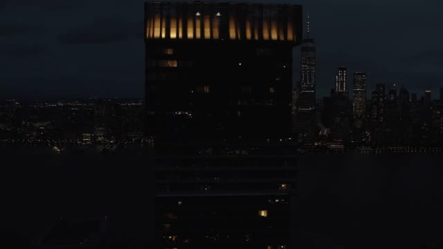 Aerial-View-Residential-Building-at-Dusk-Series-NYC-4k