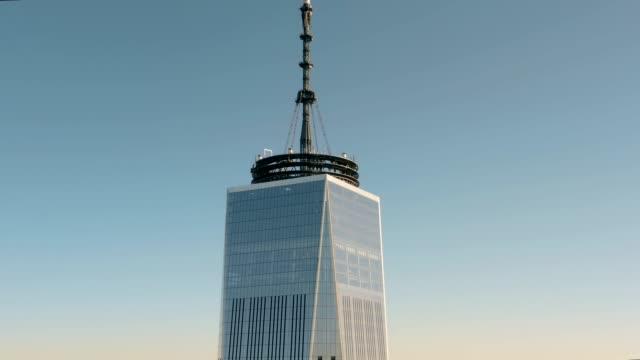 Aerial-view-of-Lower-Manhattan-4k
