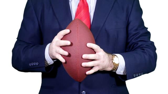 Businessman-with-a-football-