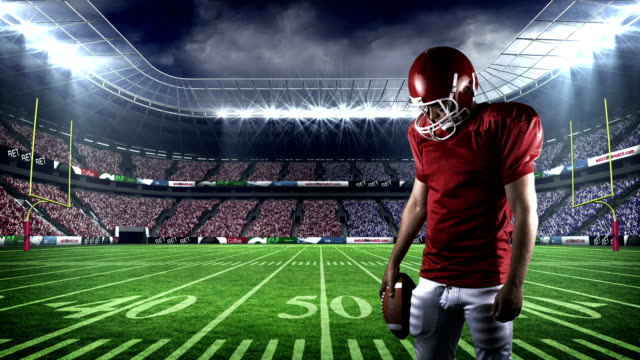 American-football-player-looking-down