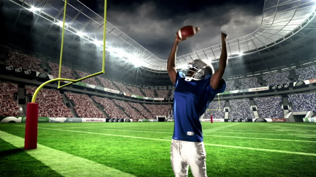 American-football-player-triumphing-with-raised-arms