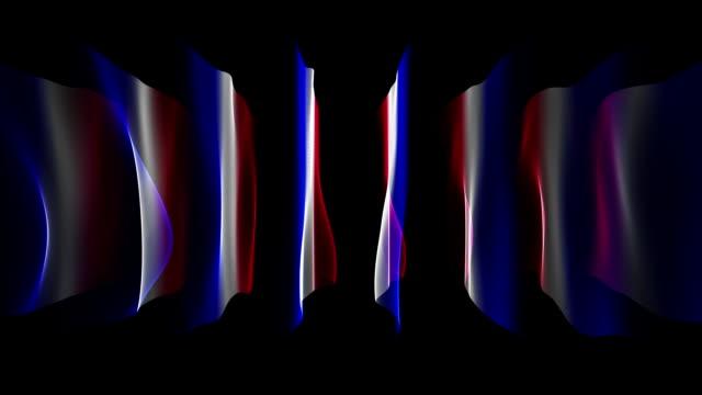Excelente-francés-bandera-de-onda-del-Color-animación-para-eventos-deportivos-lazo-HD