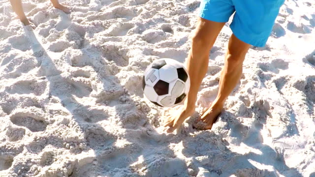 Man-playing-with-football
