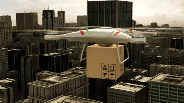 Quadcopter-drone-delivery
