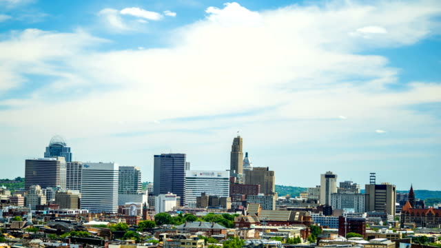 Cincinnati-Time-Lapse-of-Buildings-and-clouds-4K-1080P