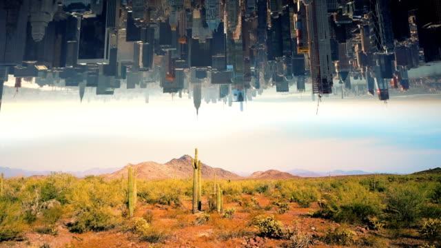 Desierto-y-ciudad-fantasía-concepto-4k-al-revés