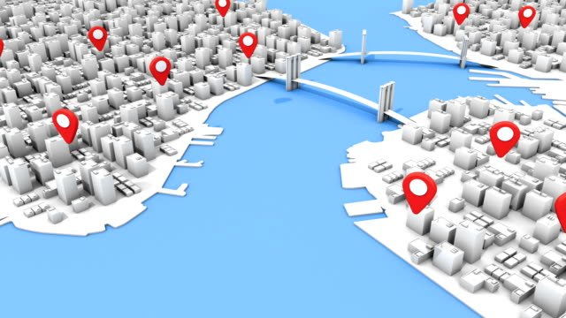 3D-New-York-City-Inspired-Aerial-Map-with-Location-Points