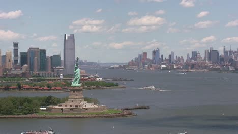 Aerial-view-of-Statue-of-Liberty-and-Ellis-Island-
