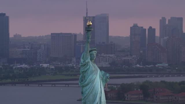 Statue-of-Liberty-on-beautiful-cloudy-morning-